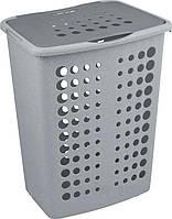 Пластиковая корзина для белья серый люкс/серебристый на 40 л VICTOR Curver 178779