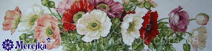Набор для вышивки крестиком К-33 Маки на Aida 16