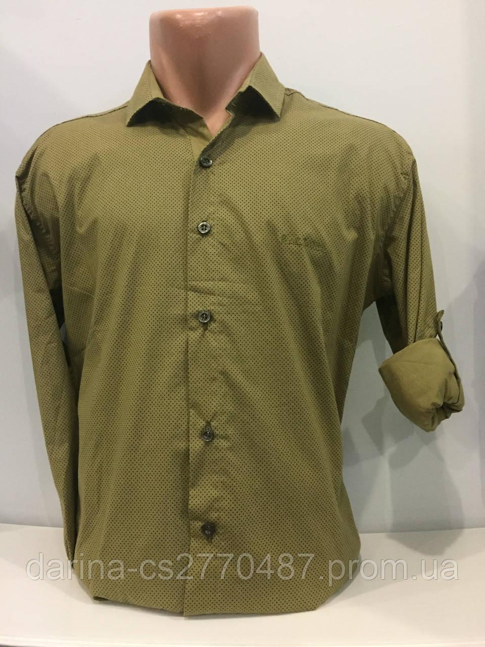 Мужская рубашка на пуговицах M,XL,2XL