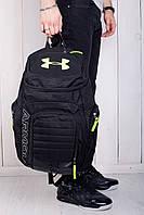 Рюкзак мужской портфель under armour черный  вместительный