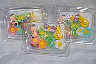 """Готовые украшения для торта из сахарной мастики набор """"Лесная полянка"""""""