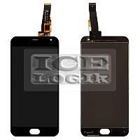 Дисплей для мобильных телефонов Meizu M2, M2 Mini, черный, с сенсорным экраном, большая микросхема,