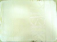 Простыня махровая бамбук 160*220 кремовая Pupilla
