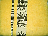Простыня махровая бамбук 160*220 желтая Pupilla