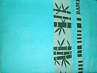 Простыня махровая бамбук 160*220 бирюза Pupilla