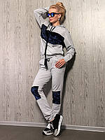 Спортивный костюм двунитка с велюровыми вставками