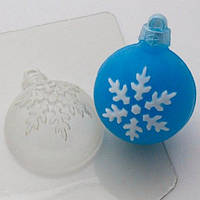 Пластиковая форма для мыла шар/снежинка