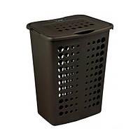 Пластиковая корзина для белья серый люкс/темно-коричневый на 40 л VICTOR Curver 208509