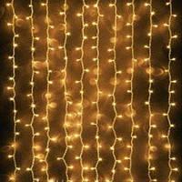 СВЕТОДИОДНЫЙ ЗАНАВЕС, 2*3 метра- теплый белый, фото 1