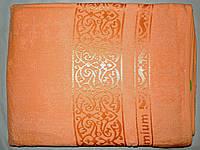 Простыня махровая бамбук 160*220 оранжевая Pupilla