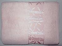 Простыня махровая бамбук 160*220 розоваяPupilla