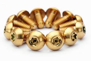 Болты Титановые для роторов, золотые