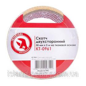 Скотч двухсторонний 50 мм*5 м на тканевой основе INTERTOOL KT-0961