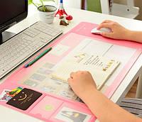 Ультра-большой коврик для мыши с карманами,линейкой и органайзером для заметок на полотне