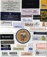 Этикетки тканые с вашим логотипом