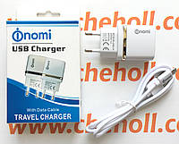 Сетевое зарядное устройство 2 в 1 для Nomi i506 Shine оригинал