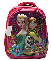 """Ортопедический школьный рюкзак для девочек 1-4 класс в 3D изображении """"Холодное сердце"""""""