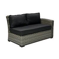 Садовый диван Geneva из искусственного ротанга правый модуль
