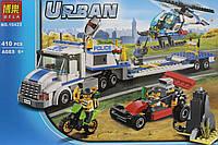 """Конструктор """"Перевозчик вертолёта""""  Urban Arctik  Bela , 410 деталей"""