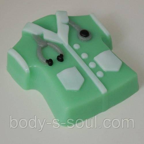 Пластиковая форма для мыла халат медицинский