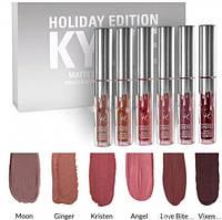 Набор матовых помадок Kylie holiday edition