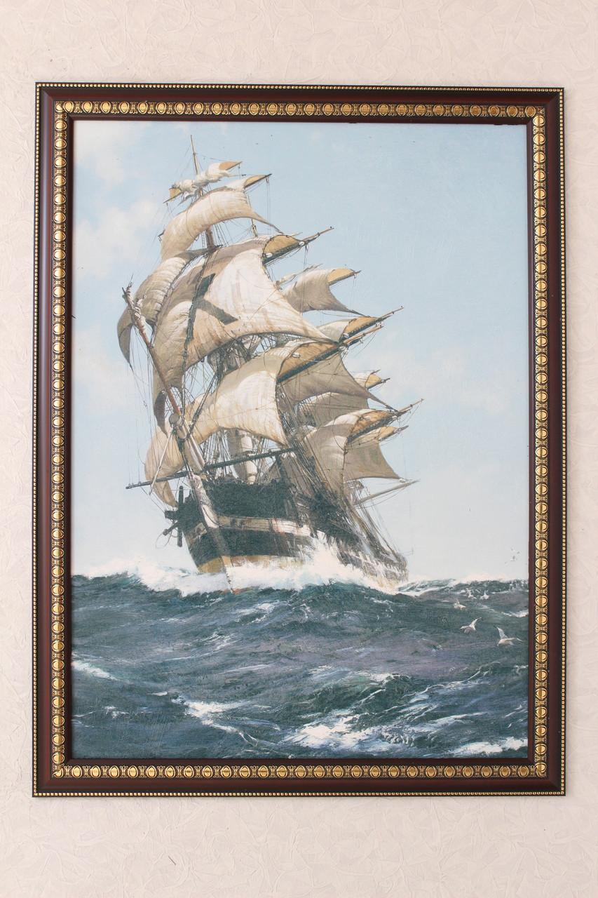 """Картина """"Парусник в океане""""2"""