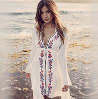 Пляжная накидка белая Ketrin
