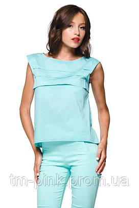 "Блуза горизонтальні складки ""Еко"" м'ята"