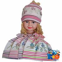 Детская шапка (весна-осень), трикотаж, для девочек (р-р 50)