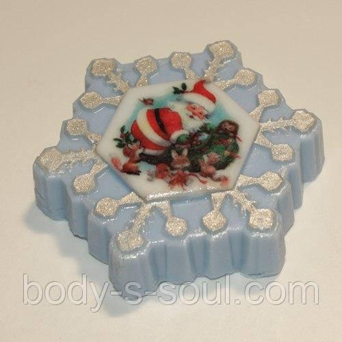 Пластиковая форма для мыла Снежинка под водорастворимку