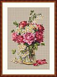 Набор для вышивки крестиком К-39 Розы, фото 2