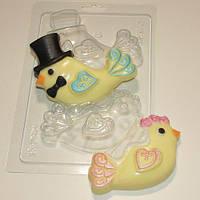 Пластиковая форма для мыла Птички-молодожены