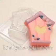 Пластиковая форма для мыла скворечник