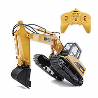 Huina Toys 1550 Excavator Yellow (экскаватор ковш)