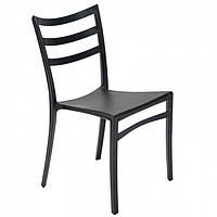 Пластиковый стул с металлическим каркасом Maka черный, фото 1