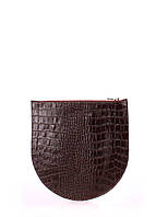 Косметичка POOLPARTY Leather Croco Brown