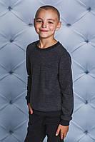 Джемпер для мальчика т-серый