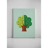 Детская картина на холсте Дерево 30х40 см