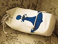"""Сумка-подушка """"Якорь синий"""", фото 1"""