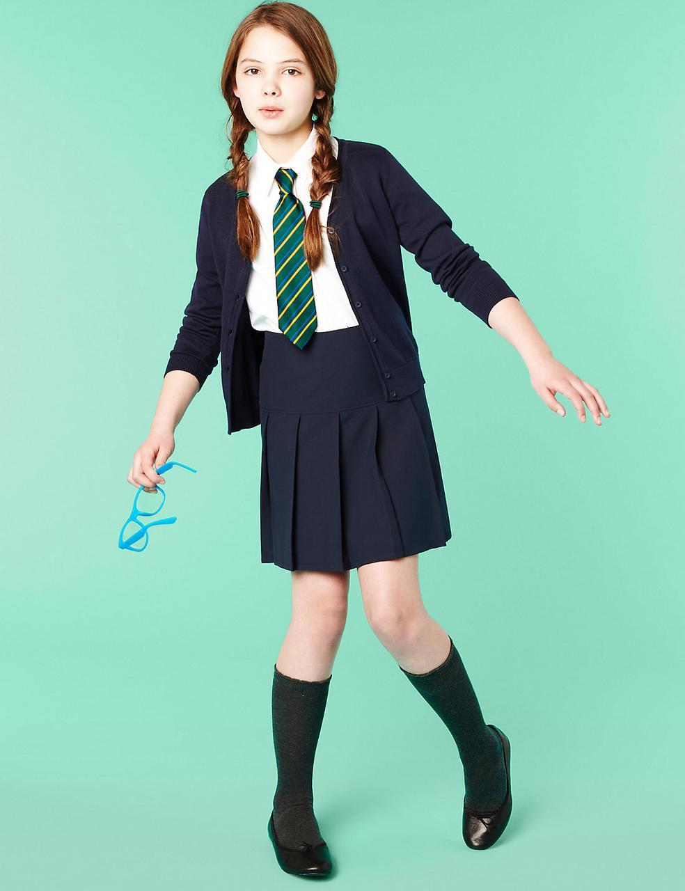 Школьный кардиган синего цвета на заказ