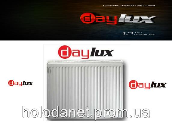 Радиатор стальной DayLux 600x2000 тип 22 бок. подключение, фото 2