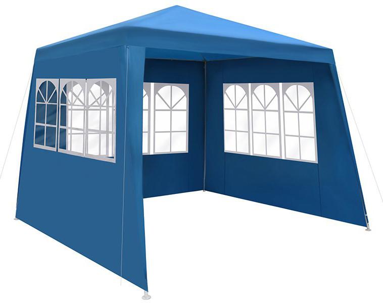 Павильон садовый шатер 3х3 с тремя стенками и окнами