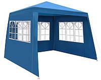 Павильон садовый шатер 3х3 с тремя стенками и окнами, фото 1