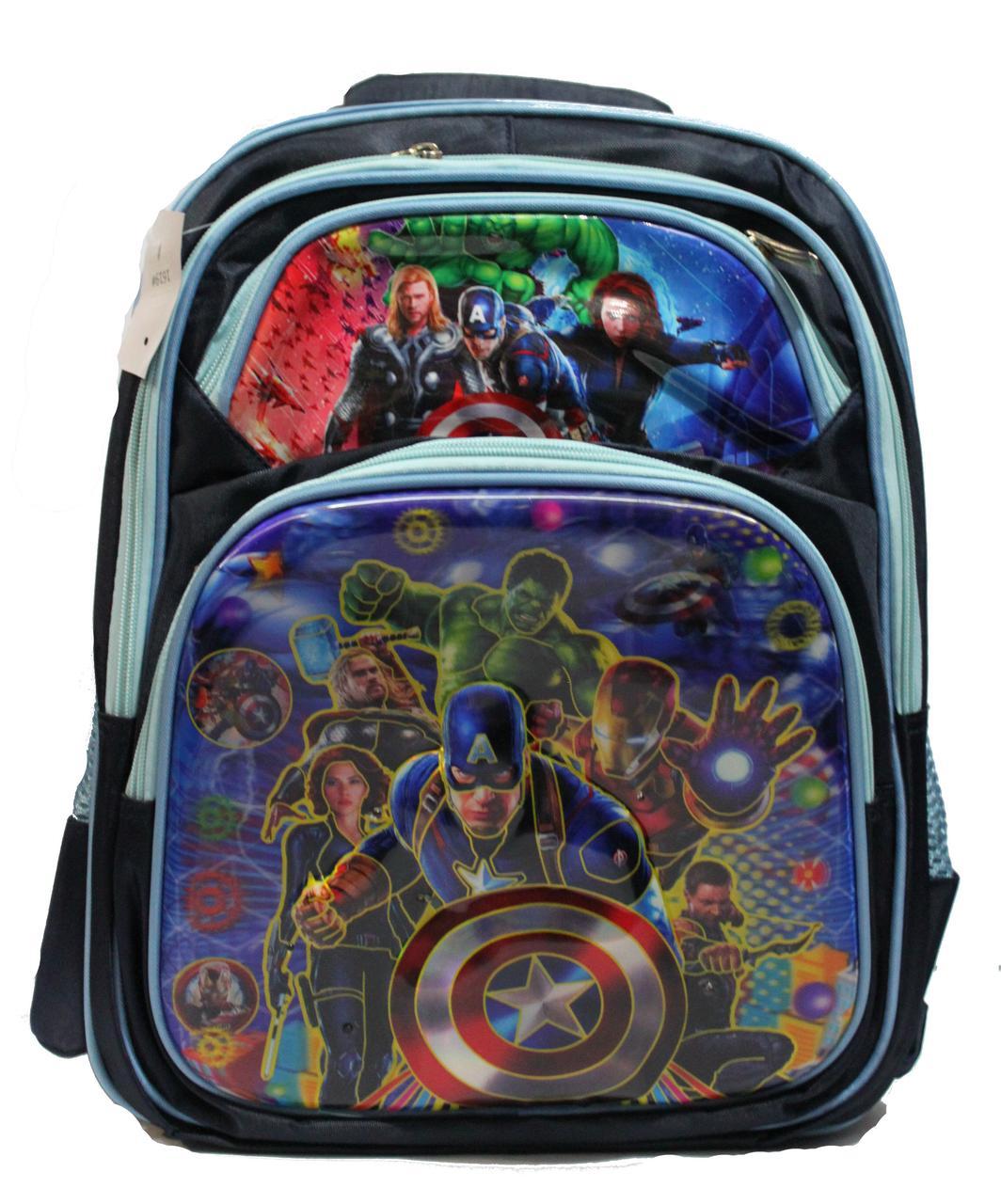 d2611ce00fd4 Ортопедический школьный рюкзак для мальчиков 1-4 класс в 3D изображении  синий