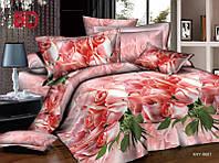 Комплект постельного белья  двуспальный c розами 5д