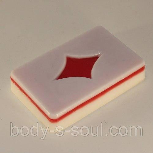 Пластиковая форма для мыла Карты/Буби
