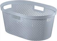 Пластиковая корзина для белья серая на 39 л INFINITY Curver 231009