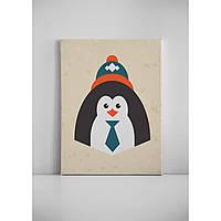 Детская картина на холсте Пингвин  30х40 см
