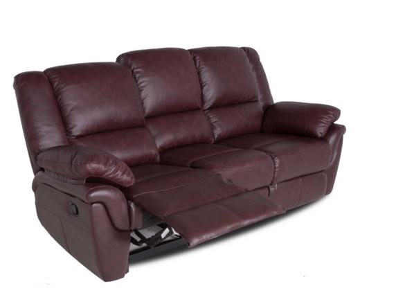 """Кожаный диван """"ALABAMA"""" с реклайнером (199см)"""