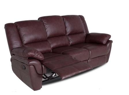 """Шкіряний диван """"ALABAMA"""" з реклайнером (199см), фото 2"""